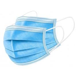 Padidinto saugumo vienkartinė medicininė apsauginė veido kaukė DMC MASK, mėlynos spalvos, 3-jų sluoksnių, 50 vnt.
