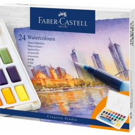 Akvareliniai dažai Faber-Castell Creative Studio, 24 spalvų