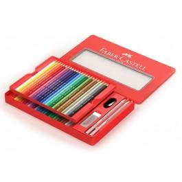 Spalvoti pieštukai Faber-Castell, 48 spalvos, metalinėje dėžutėje
