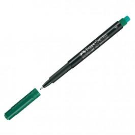 Permanentinis rašiklis Faber-Castell Multimark F, 0,6mm, su trintuku, žalios spalvos