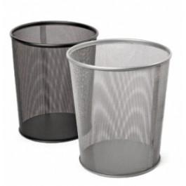 **Šiukšliadėžė Forpus, 13l, metalinė, perforuota sidabro spalvos
