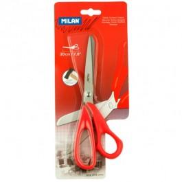 Žirklės Milan, 20cm, raudonos spalvos rankenėlės