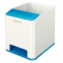 Pieštukinė Esselte Leitz Wow, plastikinė, baltos/mėlynos spalvos