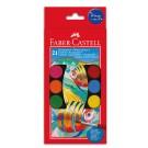 Akvareliniai dažai Faber-Castell, 21 spalvų