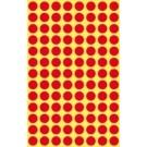 Lipdukai Avery Zweckform, apvalūs, Ø8mm, 416vnt pakuotėje, raudonos spalvos