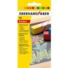 Spalvota kreida EberhardFaber, kvadratinė, 12vnt, įvairių spalvų