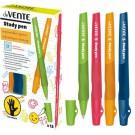 Rašiklis deVente Study Pen, kairiarankiams, 0.7mm, įvairių spalvų
