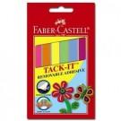 Montavimo guma Faber-Castell Tack-It, 50g, spalvota, juostelėmis