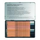 Pieštukai Lyra Art Polycolor, menininkams, 12vnt., pilkos spalvos, metalinėje dėžutėje (P)