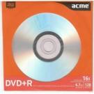 Vienkartinio įrašymo diskas Acme DVD+R, 4,7GB, 16X, popieriniame voke, 1vnt (P)