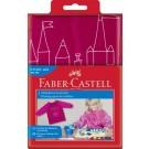 Prijuostė Faber-Castell su rankovėmis, mergaitėms, rožinės spalvos