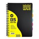 Sąsiuvinis Wave Klasa, B5,120 lapų, su 5 skirtukais, langeliais