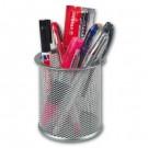 *Pieštukinė Office Depot, metalinė, perforuota, didelė, sidabrinės spalvos