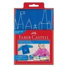 Prijuostė Faber-Castell su rankovėmis, berniukams, mėlynos spalvos