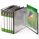 Aplankas dokumentams su įmautėmis Forpus A4, plastikinis, 80 įmaučių, juodos spalvos