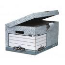 Archyvinė dėžė Fellowes R-Kive, 378x287x545mm, kartoninė, su dangčiu, pilkos spalvos