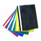 Plastikinis segtuvėlis College, A4, skaidriu viršeliu, su įsegėle, su kišenėle, juodos spalvos