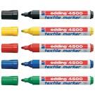 Žymeklių rinkinys Edding 4500, tekstilei, 5 spalvų