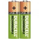 Įkraunami elementai Duracell HR6 AA, 4 vnt (P)