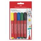 Žymekliai tekstilei Faber-Castell, 5 spalvų