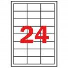 *Lipnios etiketės Apli. A4. 64.6x33.8mm. 100 lapų. baltos spalvos (P)
