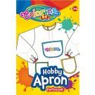 **Prijuostė Colorino Kids su rankovėmis, skaidrios baltos spalvos