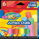 Spalvota kreida Colorino Kids Jumbo, apvali, 6vnt