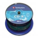Vienkartinio įrašymo diskai Verbatim CD-R, 700MB, 52x, Extra Protection, 50vnt. ´tortas´