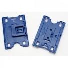 Vardinių kortelių dėklai 4004V, mėlynos spalvos, 1 vnt. (P)