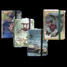 Užrašų knygutė TK-0234, A6, 140x95mm, blizgi, įvairių paveikslėlių