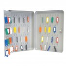 Dėžutė raktams (100 vnt.) 300x230x78mm+100 raktų pakabukų HF300C-100K, pilkos spalvos (P)