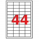 Lipnios etiketės Apli, A4, 48.5x25.4mm, 44 etiketės lape, 100 lapų, baltos spalvos
