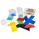Figūros geometrinės su formomis ir išklotinėmis Linex ACTIVE LEARNING, 6 figūros, 5 spalvoti dangteliai, 6 formos, 6 lakštai, 400065103 (P)