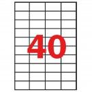 Lipnios etiketės Apli, A4, 52.5x29.7mm, 40 etikečių lape, 100 lapų, baltos spalvos