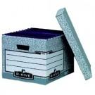 Archyvinė dėžė Fellowes, 333x285x390mm, kartoninė, su dangčiu, pilkos spalvos