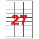 *Lipnios etiketės Apli. A4. 70x30mm. 27 etiketės lape. 100 lapų. baltos spalvos (P)