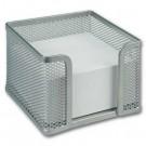 Dėklas užrašų lapeliams Office Depot, 95x95x55mm, perforuotas, metalinis, sidabrinės spalvos (P)