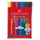 Flomasteriai Faber-Castell Grip, 10 spalvų