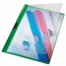 **Aplankas su spaustuku Leitz, A4, sega iki 25 lapų, plastikinis, žalios spalvos