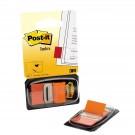 Plastikiniai žymekliai Post-it, 25x43mm, 50vnt., oranžinės spalvos