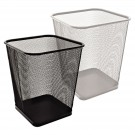 Šiukšliadėžė Forpus, 20l, metalinė, kvadratinė, perforuota, juodos spalvos