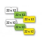 Kainų etiketės 21,5x12, stačiakampės, 1000vnt, geltonos spalvos