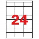 Lipnios etiketės Multi3, A4, 70x36mm, 24 etiketės lape, 100 lapų, baltos spalvos