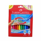 Flomasteriai Faber-Castell, 12 spalvų