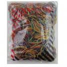 Kanceliarinės gumytės Attomex, 60mm, 1000g, įvairių spalvų