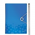 Aplankas dokumentams Leitz Wow, 6 skyrių, mėlynos spalvos (P)
