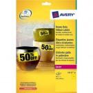 Lipnios etiketės Avery Zweckform, A4, atsparios drėgmei, 210x297mm, 1 etiketė lape, 20 lapų, geltonos spalvos