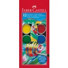 Akvareliniai dažai Faber-Castell, 12 spalvų