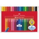 Flomasteriai Faber-Castell Grip, 20 spalvų