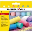 Spalvota kreida EberhardFaber, apvali, dėžutėje, 6vnt, įvairių spalvų